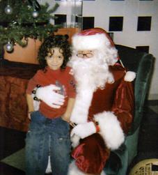 Andrew with Santa